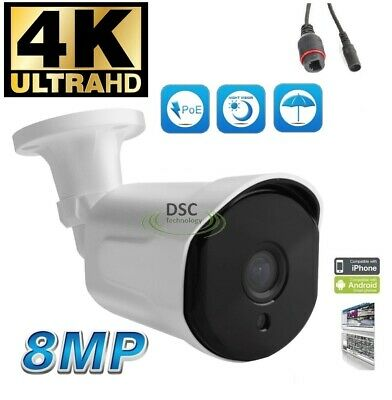 4K 8MP HD IP PoE Camera Outdoor Onvif CCTV Cameras Onvif