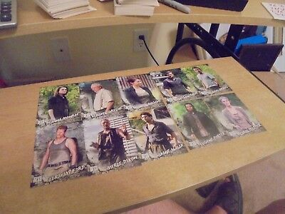 2018 The Walking Dead Road To  Alexandria 10  Card Lot of Character Inserts List