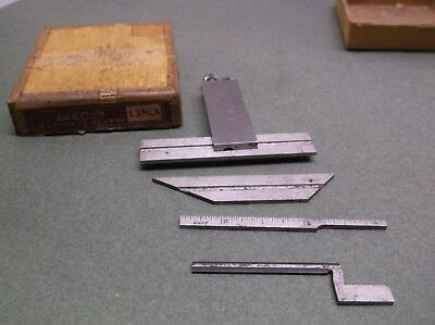Vintage THE LUFKIN RULE No.138CX Adjustable Die Makers Square + Attachments #4