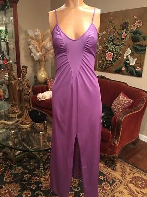 Vintage Purple Nylon Nightgown Blanch Ralph Montenero Small Medium ILGWU