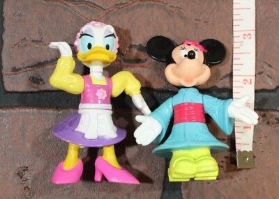 "Disney Epcot Minnie and Daisy Figures - 3"" tall"