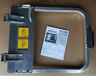 NEW PS Doors LSG-27-PCY Safety Gate  25-3/4 to 29-1/2. Aluminum - Free Shipping
