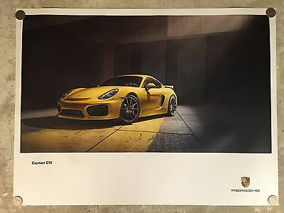 2015 Porsche Cayman GT4 Showroom Advertising Sales Poster RARE!! Awesome L@@K