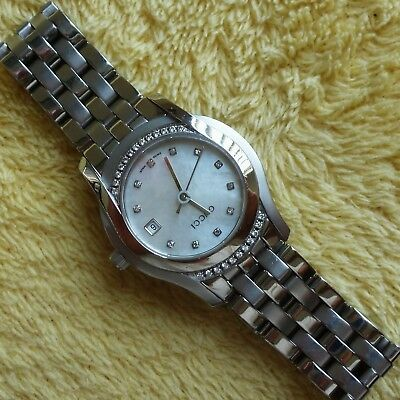 c94581c5b03 GUCCI 5500L STAINLESS Steel Women s Watch with Diamond Bezel and Dial  (NR292) -  495.00