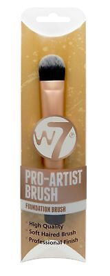 W7 Pro-Artist Foundation Make Up Brush with Lasting Soft Synthetic Bristles