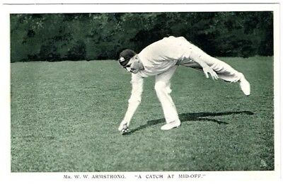 """Mr. W.W. Armstrong. """"A Catch At Mid-Off."""" - Postcard (Unused)"""