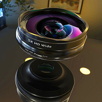 SCHOTT Series 5K HD Super Wide Angle + Macro Lens 2in1 Kit for Phone Camera Lens