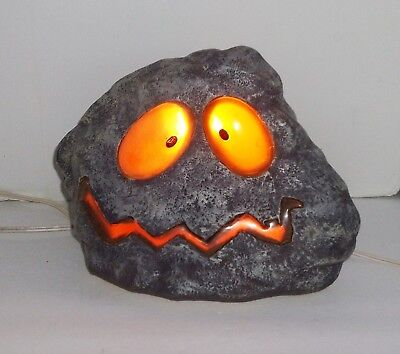 Halloween Funny Face Rock Light With Extra Bulbs  / Plug in Cord / Free Shipping