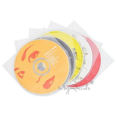100 Clear Antistatic 3 Mil Plastic CD Inner Sleeves For 5inch SHM-CD MIni LP
