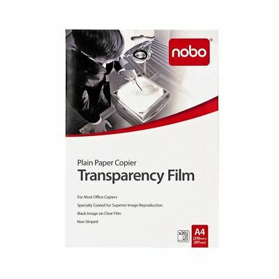 NEW Nobo Plain Paper Copier Transparency Film 20 Pack FREE Post