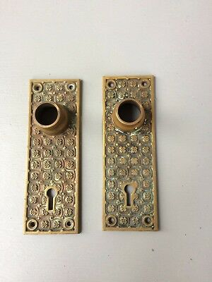 Two Old Vintage Y & T  Brass Door Plate # 0409