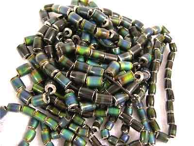 Mood beads polished heat sensitive color change metal beads 20 beads 7-12x10mm