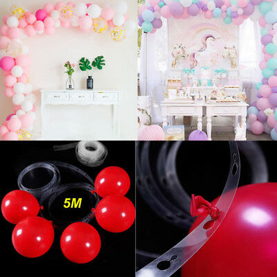 2X 5M Balloon Decorate Strip Arch Garland Connect Chain DIY Tape Party Bar Decor