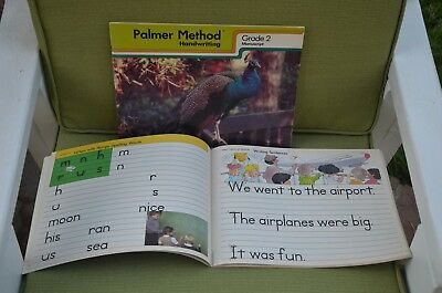 Original vintage unmarked Grade 2 Palmer Method Handwriting 1984 workbooks