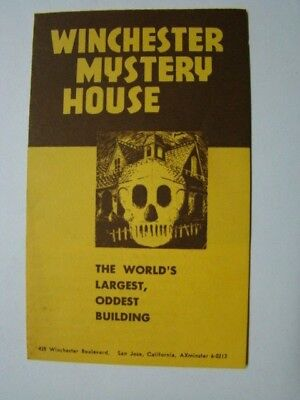 winchester mystery house fold out brochure map san jose ca 1960 s