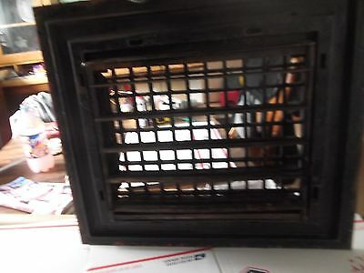 Large Antique Cast Iron Heat Grate Wall Register with outer frame. used