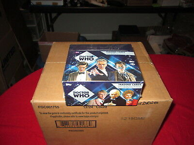 Doctor Who 2015 Trading Cards Factory Sealed Case of 12 Boxes Topps Autographs