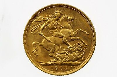 1903 Sydney Mint Gold Full Sovereign in Very Fine Condition