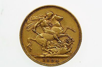 1894 Melbourne Mint Gold Full Sovereign in Very Fine Condition