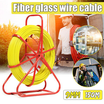 4.5/6/9mm Fiberglass Wire Cable Fish Tape Rodder Tube Running Rod Duct Puller