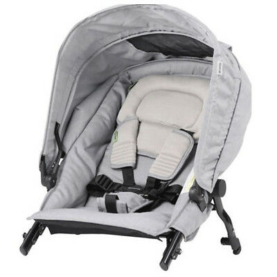 Steelcraft Strider Compact Stroller Second Seat Deluxe Edition Grey Linen