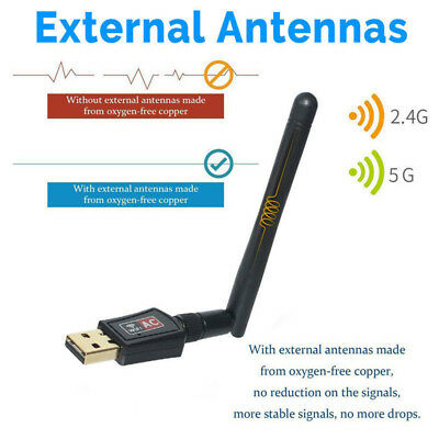150Mbps 2.4Ghz Wireless USB WiFi Network Adapter w/Antenna 802.11NPB