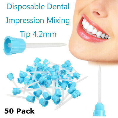 50X Impression Mixing Tips Dental Silicone Rubber Film Disposable 3.5/4.2mm 1:1