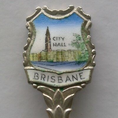City Hall Brisbane Story Bridge Souvenir Spoon Teaspoon (T177)