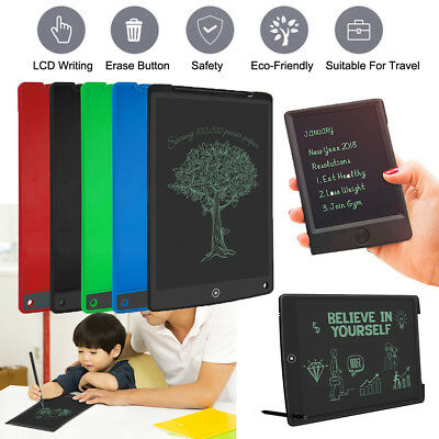 """5""""-12"""" Electronic Digital LCD Writing Pad Tablet Drawing Graphics Board Notepad"""