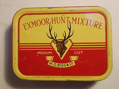 Old Empty EXMOOR HUNT 2oz. Tobacco Picture Tin. G/VG