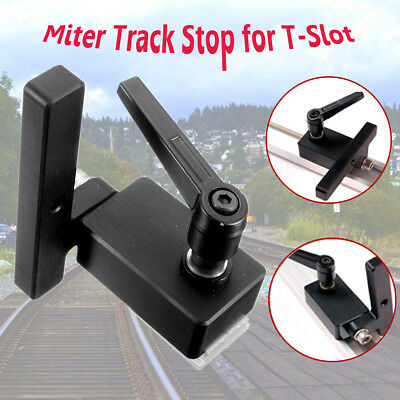 Miter Track Stop for T-Slot T-Tracks Woodworking DIY Tool Manual Durable In Use