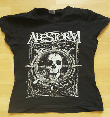 Alestorm Wenches And Mead Tour T-Shirt Girlieshirt Gr. M 36/38 - Metal Bandshirt