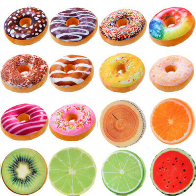 Donut Throw Pillow Case Fruit Seat Pad Home Decoraiton Dining Room Cushion Cover