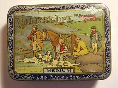 Old Empty Players COUNTRY LIFE Tobacco Picture Tin. G
