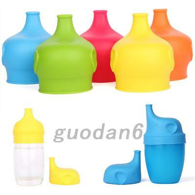 Toddlers Babies Silicone Sippy Lids For Any Cup Spill Proof Reusable Creative