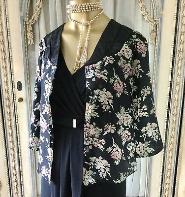 "DOTTI Vintage I940""S Inspired Gorgeous Floral Jacket Australian Size 12/L"