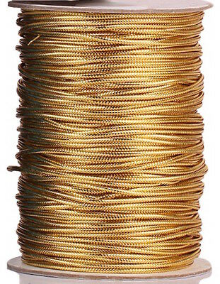 Metallic Gold Round Elastic Thread Cord 1mm x 10m, DIY Craft