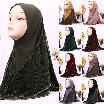 1 Piece Hijab Ready Made Pull on Scarf Jersey Instant Pin free Amira islamic