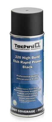 TechniQ High Build Etch Primer 400ml Can for Bare Metals Alloy Wheels BLACK
