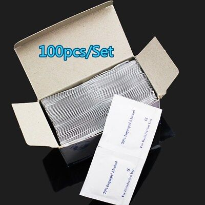 100x Alcohol Wipes Medical Wipes Medi Swabs Sterile Screen Cleaners Skin Pads SW