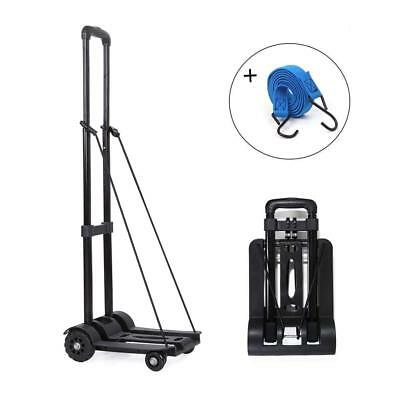 Portable Fold Up Dolly Hand Truck, Heavy Duty Solid Construction Utility Cart,