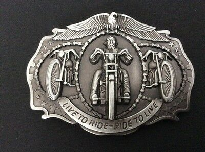 New Live To Ride Motorcycle Belt Buckle