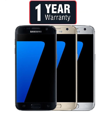 Samsung Galaxy S7 SM-G930F Unlocked 32GB Black Gold Pink Silver White Grade A