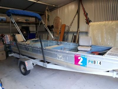 15 foot aluminium boat punt - Relisted due to non-contactable buyer.
