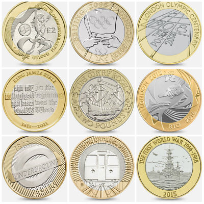 Rare £2 Two Pound Coin Hunt Albums - Commonwealth Mary Rose Shakespeare Olympics
