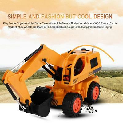 RC Excavator 5 Channel Remote Control Digger Truck Construction Car Toy Kid Gift
