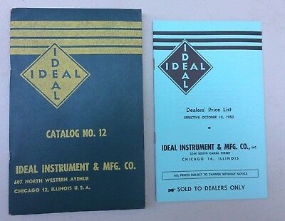 Vintage 1950 Ideal Veterinary Instrument Supply Catalog & Price List Chicago,ILL
