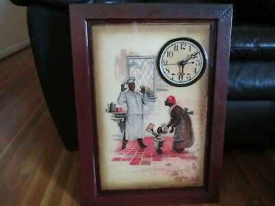 Vintage ? African American Cream of Wheat advertising Clock advertise sign