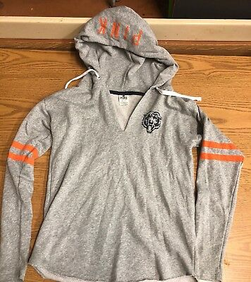 Victorias Secret PINK NFL Chicago Bears Hoodie Size XS