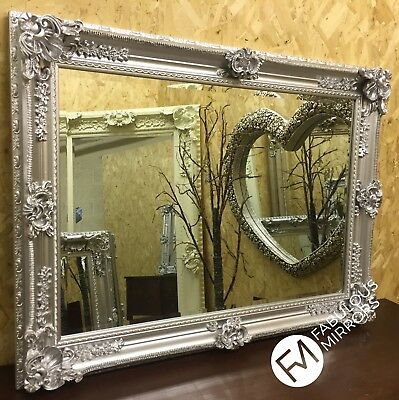 LG Bright Silver Chrome Ornate Decorative Wall Mirror  - RRP £249.99 - SORREL